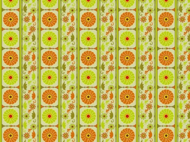 Mid-century inspired wallpaper pattern
