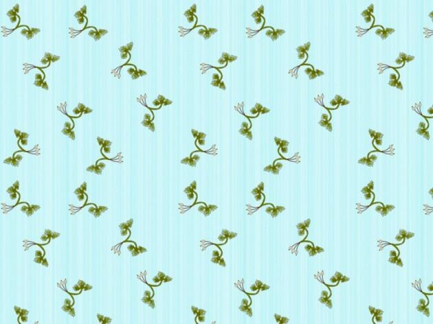 Mid-century inspired design for kitchen wallpaper