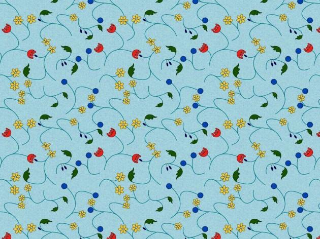 Wallpaper mid-century inspired design