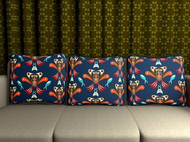 Fun cushion surface pattern