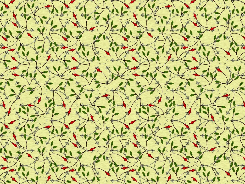 Mid-century inspired pattern that is 'wall of colour'