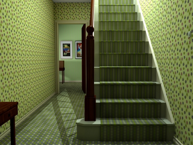 Hall wallpaper - no more plain walls