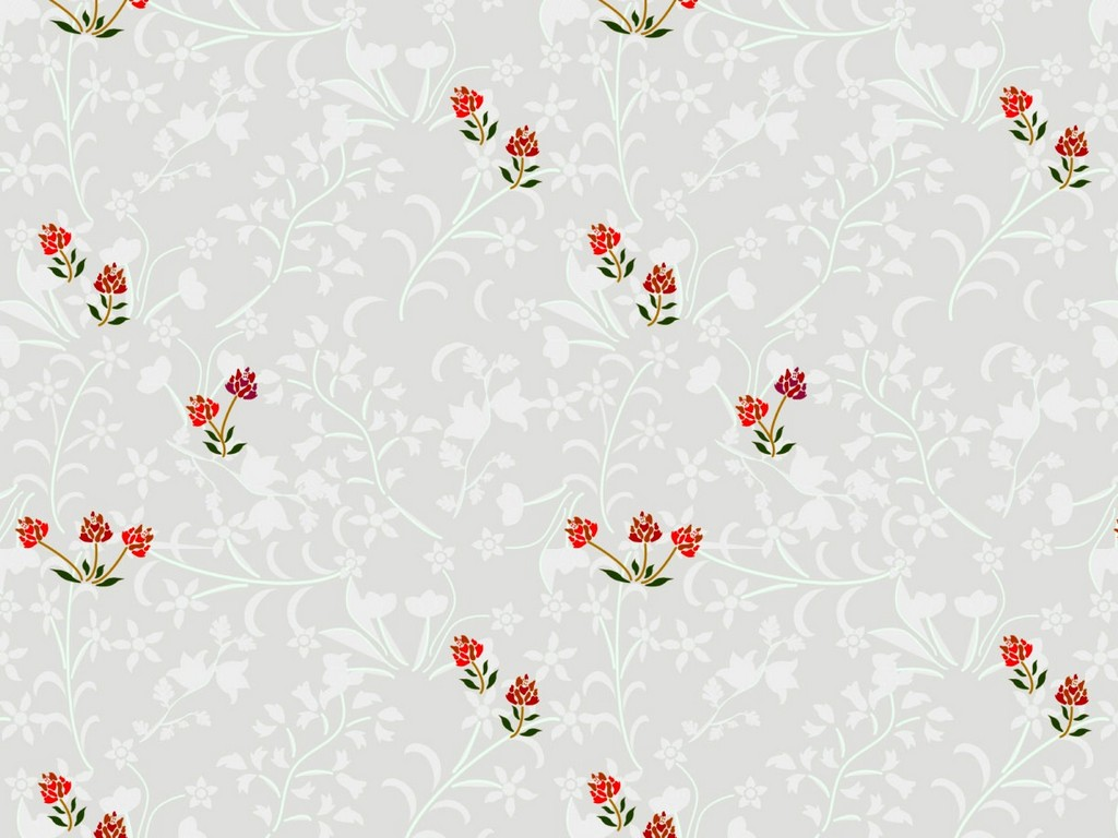 Bedroom wallpaper design of flowers against a light background