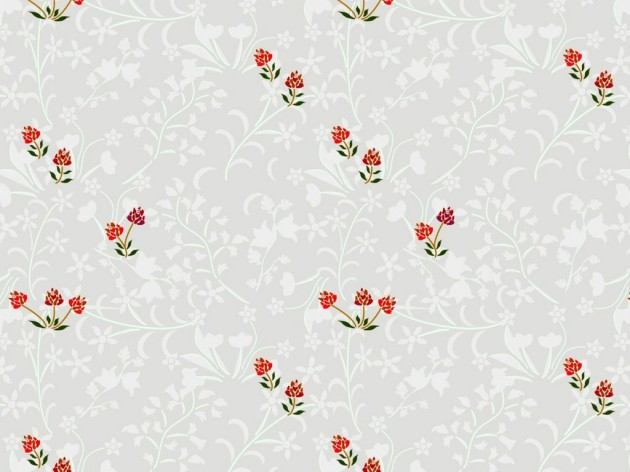 Bedroom wallpaper design of flowers against a light background