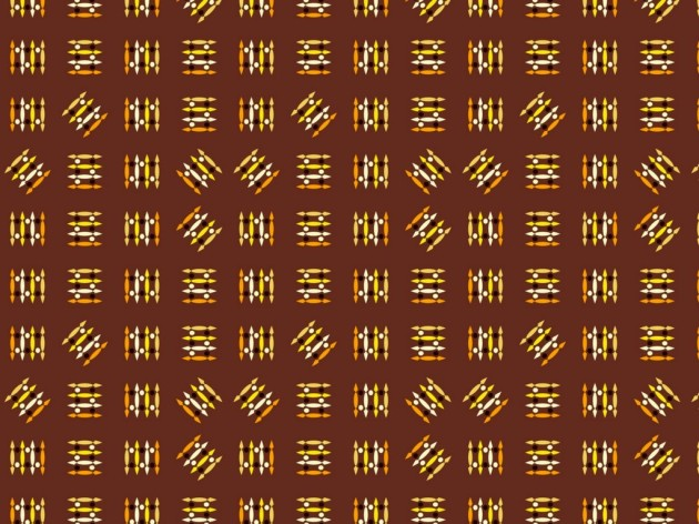Unusual novelty pattern of lines on a brown background