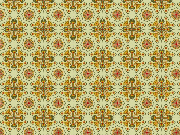 Complex design in browns intended as a wallpaper pattern