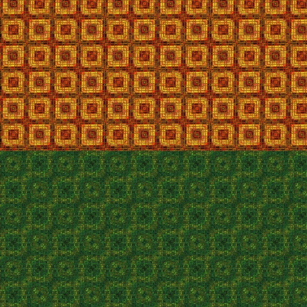 Two mid-century style carpet textures